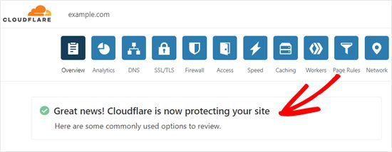 Bây giờ sẽ mất vài phút để cập nhật nameserver và kích hoạt Cloudflare
